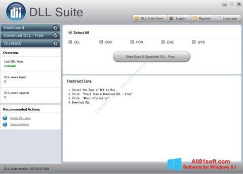 Skærmbillede DLL Suite Windows 8.1