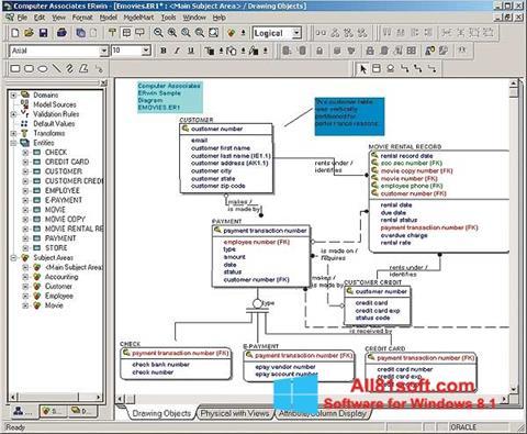 Skærmbillede ERWin Windows 8.1