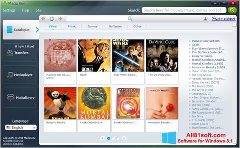 Skærmbillede MediaGet Windows 8.1