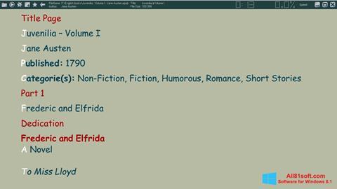 Skærmbillede ICE Book Reader Windows 8.1