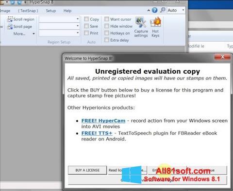 Skærmbillede HyperSnap Windows 8.1