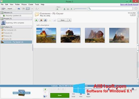 Skærmbillede Picasa Windows 8.1