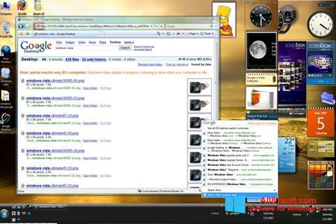 Skærmbillede Google Desktop Windows 8.1