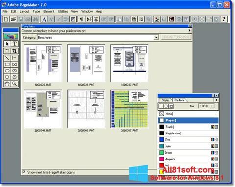 Skærmbillede Adobe PageMaker Windows 8.1