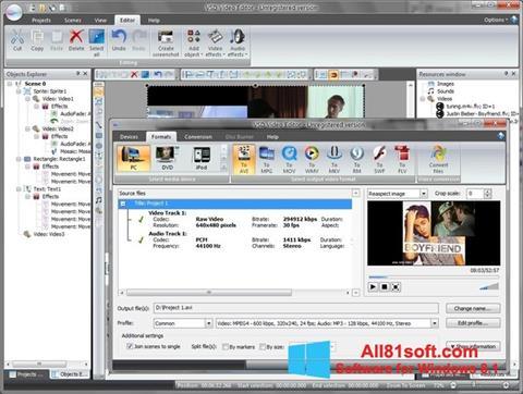 Skærmbillede Free Video Editor Windows 8.1