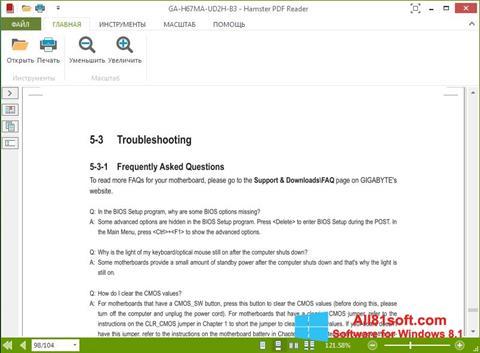 Skærmbillede Hamster PDF Reader Windows 8.1