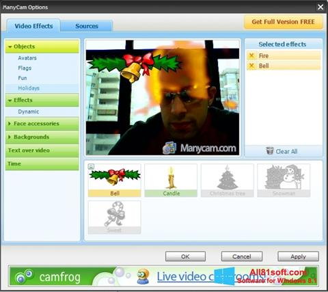 Skærmbillede ManyCam Windows 8.1