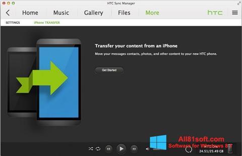 Skærmbillede HTC Sync Windows 8.1
