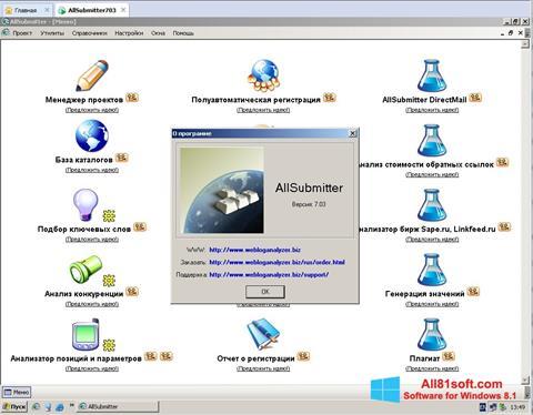 Skærmbillede AllSubmitter Windows 8.1