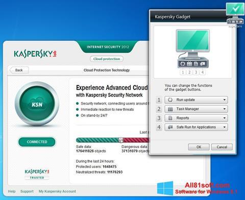 Skærmbillede Kaspersky Internet Security Windows 8.1