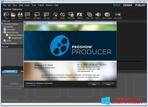 Skærmbillede ProShow Producer Windows 8.1
