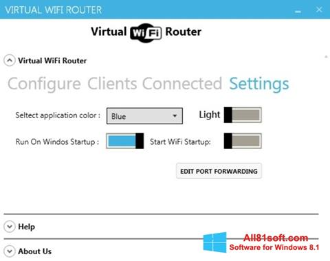 Skærmbillede Virtual WiFi Router Windows 8.1