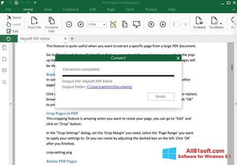 Skærmbillede PDF Editor Windows 8.1