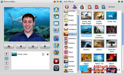 Skærmbillede WebcamMax Windows 8.1
