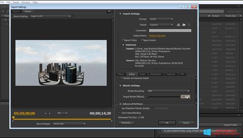 Skærmbillede Adobe Media Encoder Windows 8.1