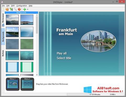 Skærmbillede DVDStyler Windows 8.1
