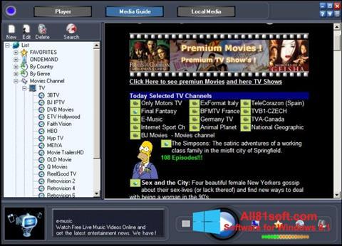 Skærmbillede Online TV Live Windows 8.1
