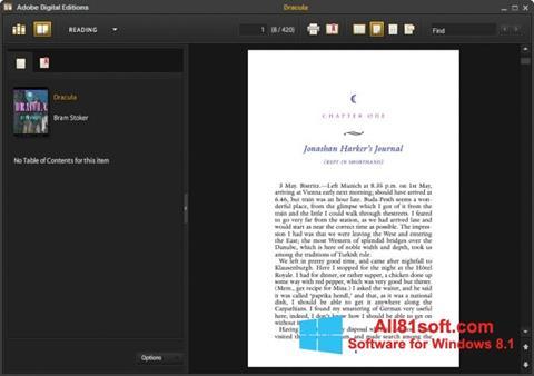 Skærmbillede Adobe Digital Editions Windows 8.1