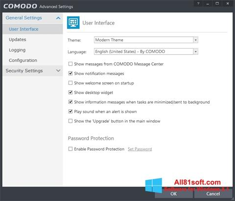Skærmbillede Comodo Internet Security Windows 8.1