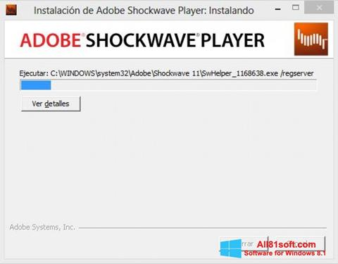 Skærmbillede Adobe Shockwave Player Windows 8.1