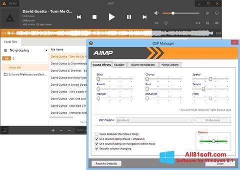 Skærmbillede AIMP Windows 8.1