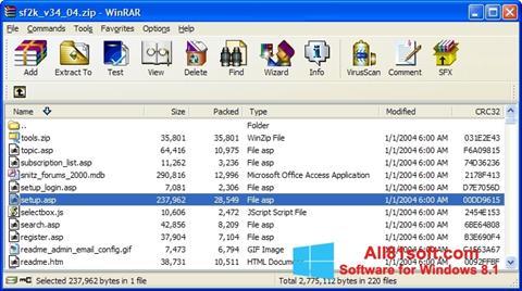 Skærmbillede WinRAR Windows 8.1