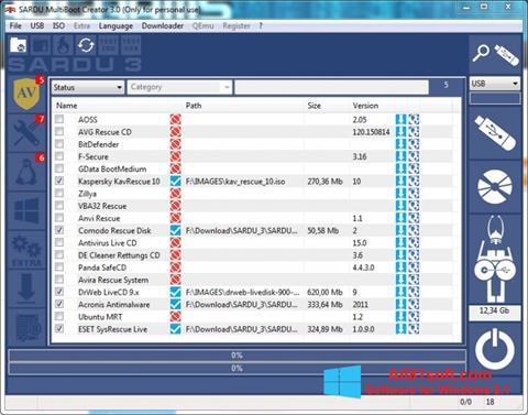 Skærmbillede SARDU Windows 8.1
