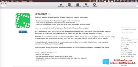 Skærmbillede Greenshot Windows 8.1