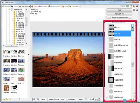 Skærmbillede PhotoScape Windows 8.1