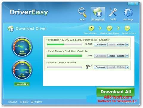 Skærmbillede Driver Easy Windows 8.1