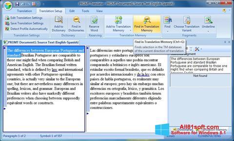 Skærmbillede PROMT Windows 8.1