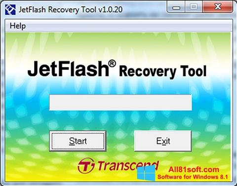 Skærmbillede JetFlash Recovery Tool Windows 8.1