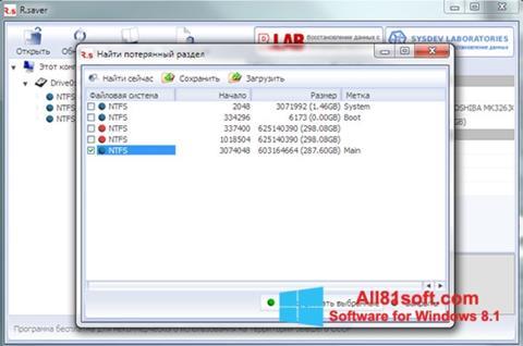 Skærmbillede R.saver Windows 8.1