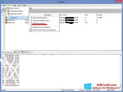 Skærmbillede Proxifier Windows 8.1
