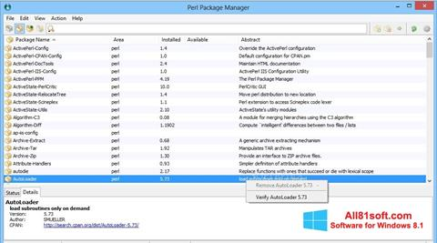 Skærmbillede ActivePerl Windows 8.1
