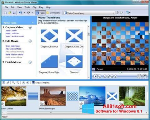 Skærmbillede Windows Movie Maker Windows 8.1