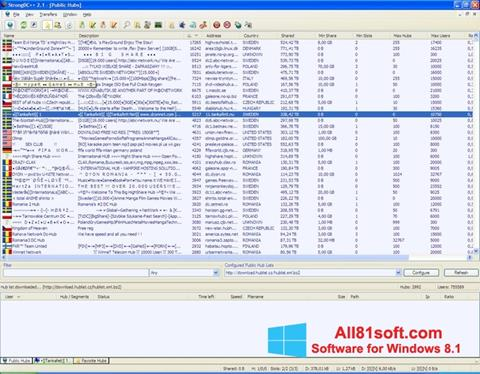 Skærmbillede StrongDC++ Windows 8.1