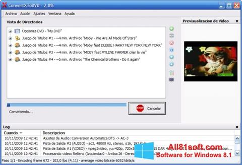 Skærmbillede ConvertXToDVD Windows 8.1