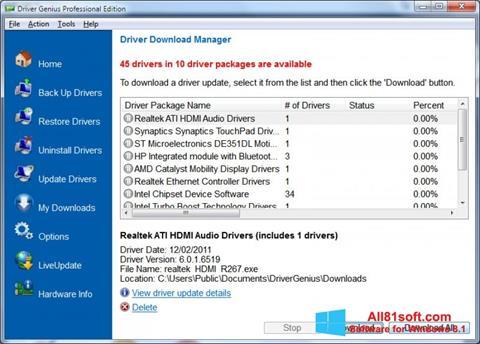 Skærmbillede Driver Genius Professional Windows 8.1