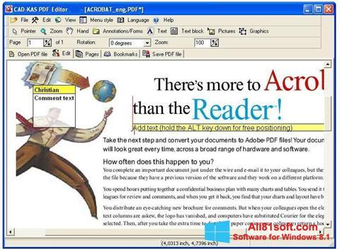 Skærmbillede PDF Reader Windows 8.1