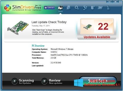 Skærmbillede SlimDrivers Windows 8.1