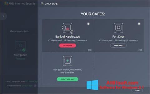 Skærmbillede AVG Internet Security Windows 8.1