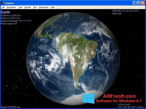 Skærmbillede Celestia Windows 8.1