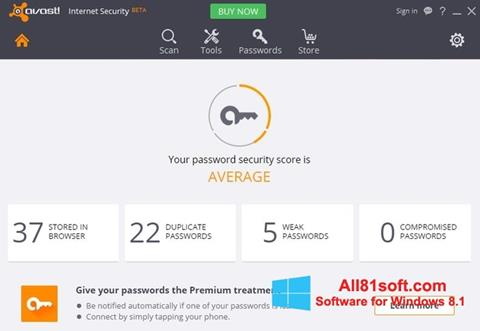 Skærmbillede Avast Internet Security Windows 8.1