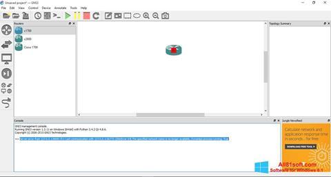 Skærmbillede GNS3 Windows 8.1