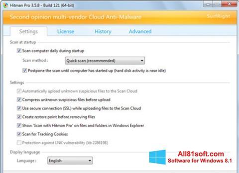 Skærmbillede HitmanPro Windows 8.1