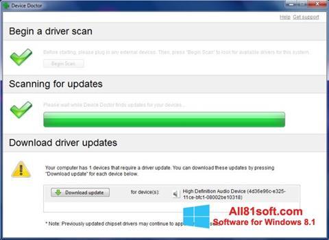 Skærmbillede Device Doctor Windows 8.1