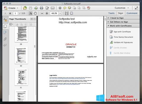 Skærmbillede Adobe Acrobat Windows 8.1
