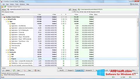 Skærmbillede GoodSync Windows 8.1