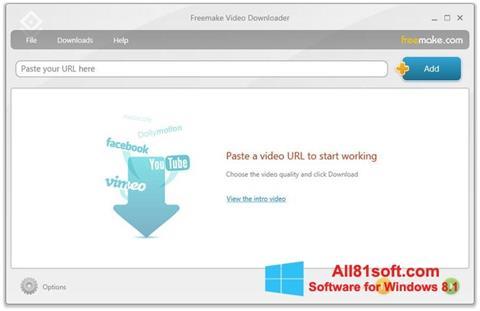 Skærmbillede Freemake Video Downloader Windows 8.1